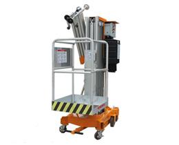 可进电梯手动单桅杆式高空作业平台